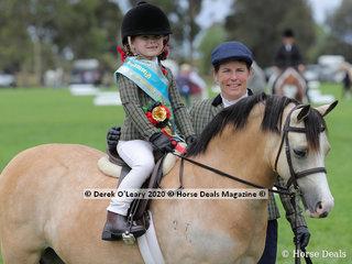 "D.E.V.A. Leading Rein Champion, ""Wyann Bon Bon"" ridden by Matilda Hausler"