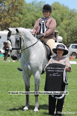 """Supreme Combination in the Pony Club ring went to Jamie Harding and """"Rojahmar Star"""", representing Bacchus Marsh Pony Club"""