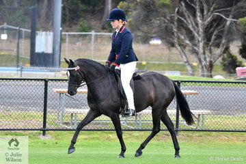 Grace Perkins rode the Blackwood Ponies nomination, 'Blackwood Bo-Peep' to win the class for four Year Old Pony 12.2-14hh.