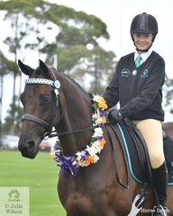 Crystal Lloyd representing the Lillico Pony Club rode her impressive hack, 'South Africa' to claim the Best Presented Pony Club Rider award.
