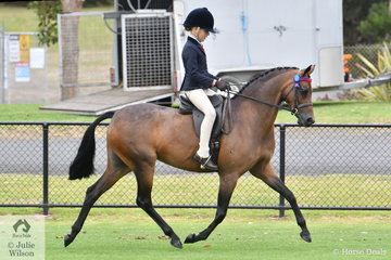 Sabrina Gilmour rode 'Yurrugar Super Model' to win the Ring 2 class for Open Pony 13-13.2hh.