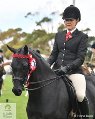 Melanie Burns rode the PGB Show Team nomination, 'Wideacre Prince George' to win the class for Open Galloway 14.2-15hh and claim the Ring 1 Galloway Championship.