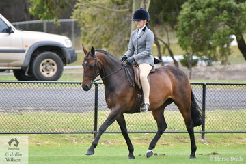 Tanasha Watters rode her, 'Hopscotch' to claim the Ring 1 Show Hunter Galloway Championship.