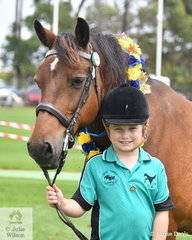 In the Fun Ring, Lizzie Watkins claimed the prize for Cleanest Pony/Horse with her 'Harry'.