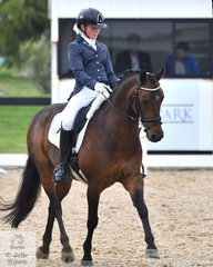 Ava Braniff rode Allengreen Medallist to second place in the FEI Pony Class.