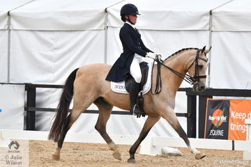 Amy Bachmann rode her delightful Heritage Park Chartreuse to second place in the FEI Prix St George.