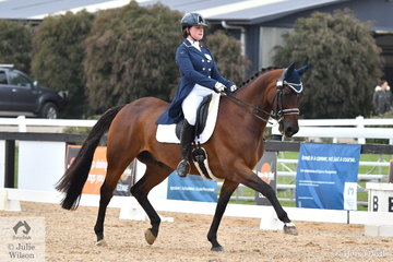 Kelsey Josephs and Irock took third place in the Prix St Georges.
