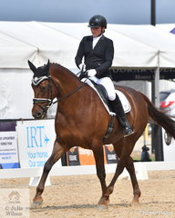 Jemma Geysen rode Rukuko M to fifth place in the Marcus Oldham FEI Junior Championship Team Test.