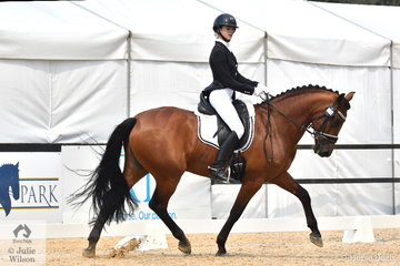 Olivia Gillespie rode Versace I to second place in the Marcus Oldham FEI Junior Championship Team Test.