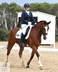 Courtney Thompson riding Mighty Moses took fifth place in the Elementary 3B horse class.