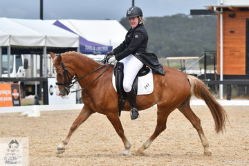Skye Wright and the well performed Kamber Pryderi placed third in the Marcus Oldham FEI Junior Championship Team Test.