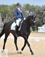 Lucy Peters rode Sahara Storm to sixth place in the Elementary 3B horse class.