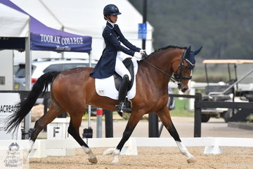 Sophie Taylor riding Jazzabelle took fourth place in the Marcus Oldham FEI Junior Championship Team Test.