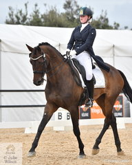 Matida Bills rode High Heelz Firhod to win the Marcus Oldham FEI Junior Championship Team Test.