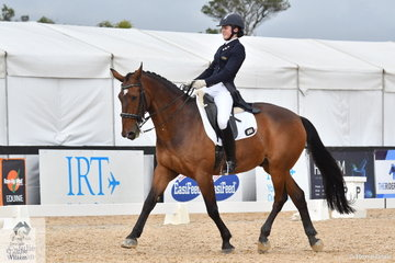 Isabelle Luxmoore rode Feru to win the Marcus Oldham Intermediate A test.