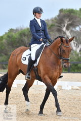 Emma Spencer rode Fairbanks Perfection to third place in the Carol Haynes Advanced 5C.