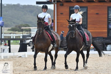The 2C Victorian Youth Dressage Championships has a friendly atmosphere and young riders of different ages and abilities can compete in various classes over the four days. Olivia Holston and Maddison Phuah look good during the Pas de Deux test.
