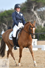 Paige Koliba rode Loriot Skyes The Limit to win the FEI Pony Individual Test.