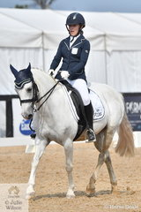 Charlotte Pennefather rode the Welsh Pony, Mithril Kismet in the Charlie's Cookies Medium, Championship.