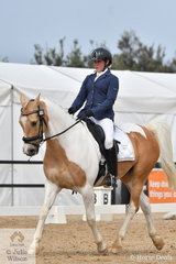 Louisa Inge riding Road To Jamieson took seventh place in the Charlie's Cookies Medium, Championship 4B.