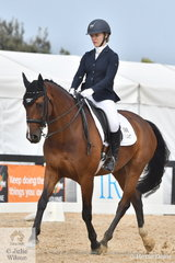 Isabella Robertson-Dixon rode Avella Fratellino to second place in the Charlie's Cookies Medium 4B.