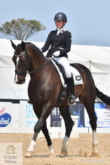Arkie Daddo rode Its Figueras to second place in the Charlie's Cookies Medium 4C.