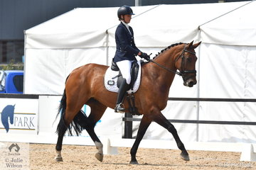 Emma Spencer rode Fairbanks Perfection to seventh place in the Charlie's Cookies Medium 4C.
