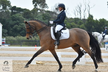 Haylea Wright rode Stanmore Park Ruby to eighth place in the Charlie's Cookies Medium 4B.