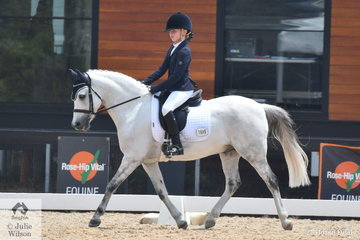 Keely Keet rode GB Creme Deluxe to seventh place in the Stable Ground Participation 1B Junior.