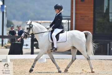Rosemary Sutherland rode Rivington Rock Star to eighth place in the Stable Ground Participation 1B Junior.
