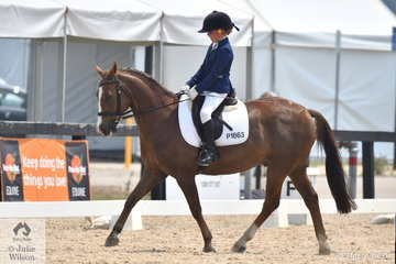 Ebony Harvey rode the New Forest Pony, Kapeta Prelude in the Stable Ground Participation 1B Junior.