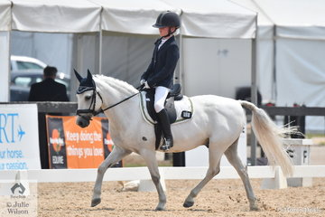 Merissa Balazs riding Pegasus took fifth place in the Stable Ground Participation 1B Junior.