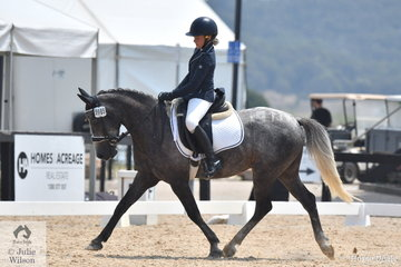 Tayla Anderson rode Levale East Wind to fourth place in the Stable Ground Participation 1A Junior.