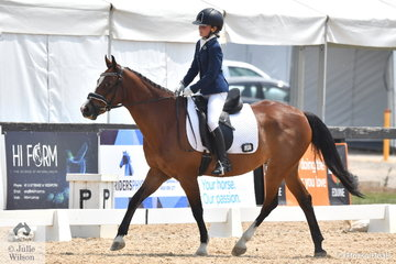 Bree Harvey and Rathowen Sprightly competed in the Stable Ground Participation 1B Junior.