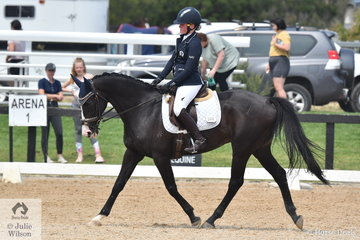 Prudence Robinson rode SL Eclipse to second place in the Stable Ground Participation 1A Junior.