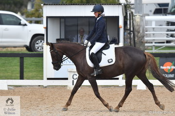 Erica D'Alia rode Donnerchar to win the Stable Ground Participation 1B Junior.