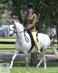 Sarah Catanach rode her lovely, 'Tooravale Jambo' to take second place in the Welsh Section B Ridden Australian Welsh and Part Welsh Qualifier.
