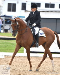 Representing New Zealand, Anne Watts rode Josephs Dream to sixth place in the Team Test Grade 4 CPEDI.