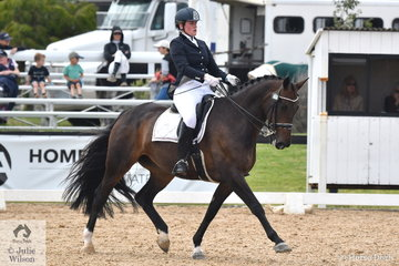 Matilda Carnegie rode Devil's Chocolate to third place in the Team Test Grade 4 CPEDI.
