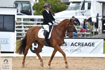 Phoebe Roche riding Saddle Up Romper Stomper took fourth place in the Team Test Grade 4 CPEDI.