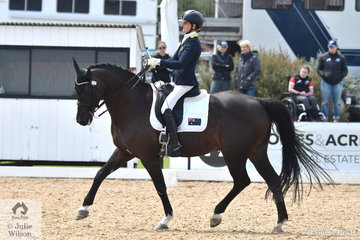 Sharon Javis riding Romanos placed second in the Team Test Grade 4 CPEDI, scoring 68.75%.
