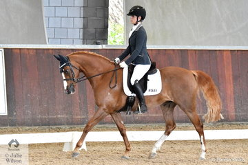 Samantha Bray rode Beauparc Bewitched to fourth place in the Young Pony 4 Year Old round 1.