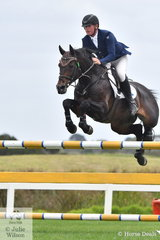 Paul Brent rode the well performed stallion, Fontaine Blue VDL in the Open 135cm Art 238.2.1.