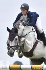 Ally Lamb and her stallion Eagle Rock looked good in the Open 135cm Art 238.2.1.
