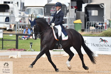 John Thompson representing New Zealand rode his stallion JHT Chemistry, to fourth place in the FEI Grand Prix CDI3*, scoring 69.32%.