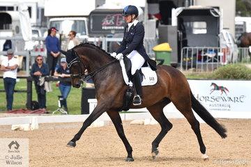 Mary Hanna rode her beautiful Syriana to win the FEI Grand Prix CDI3*, scoring 70.71%.