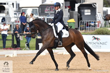 Mary Hanna rode her beautiful Syriana to win the FEI Grand Prix CDI3*, scoring 70.71%.