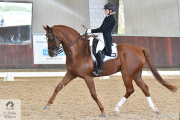 Rebecca Wright and Bloomfield Royal Winston looked good during their Prix St Georges CDN test.