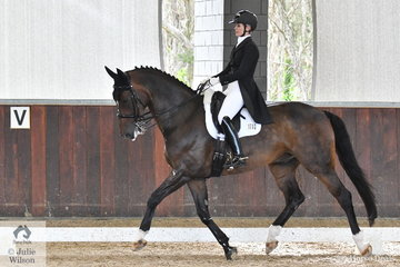 Jane Crantock riding her Davidoff took second place in the Prix St Georges CDN scoring 69.26%