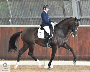 Maree Tomkinson rode her Total Diva to win the Young Horse 7 Year Old round 2, scoring 68.73%.